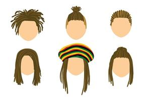 Dreads Template Free Vector