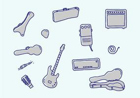 Guitar And Related Vector Icons