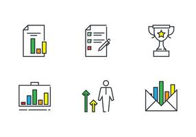 Bookkeeping Thin Line Icon vector