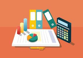 Design de vetores de contabilidade