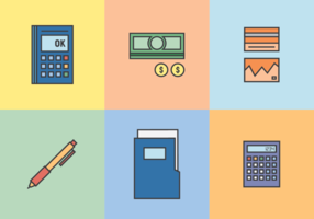 Boekhouding en boekhoudkundige vector