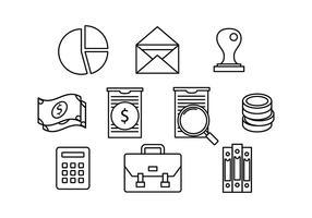 Kostenlose Buchhaltung Linie Icon Vektor