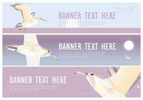 Web Banner Albatros Low Poly Vector