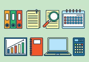 Bookkeeping Icons Set vector