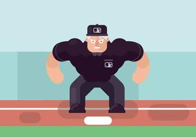 Umpire Illustratie