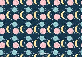 Cartoon Space Background vector