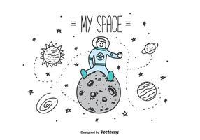 Mi espacio Vector de fondo