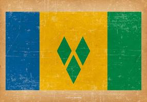 Drapeau grunge de saint Vincent et les Grenadines