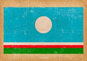 Grunge Vlag van Sakha Republiek