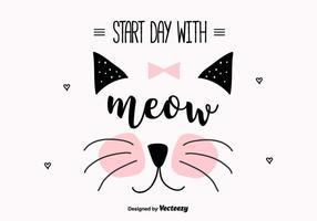 Meow Vector Background