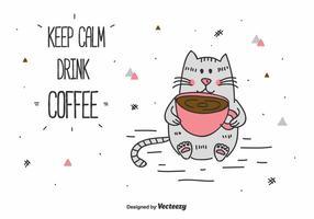 Mantener la calma y beber café Vector