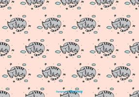 Sleeping Cat Vector Pattern
