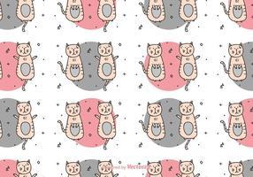 Färgglatt kattmönster