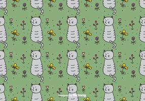 Cat In Garden Pattern