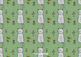 Katt i trädgårds mönster