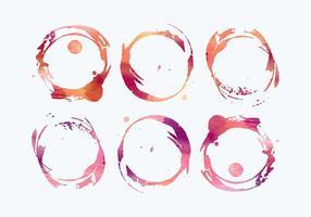 Manchas de vino de acuarela vector