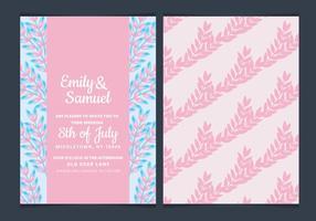 Invitación rosada floral de la boda del vector