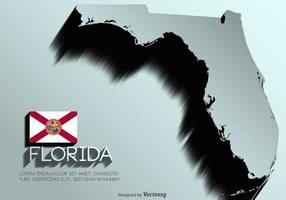 Mapa do vetor Florida