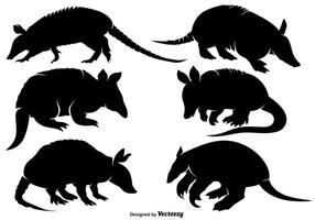 Vector Armadillo Icon Set