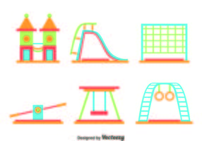 Flat Playground Element Vector