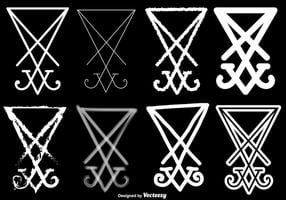 Vector Set Of Lucifer Symbol