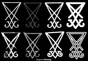 Vector Set von Luzifer Symbol