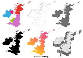 Vector British Isles Map