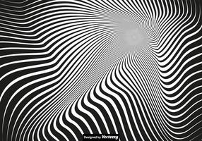 Vector Vertigo Background - Abstract Fond noir et blanc