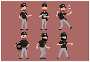 Vettore del carattere dell'arbitro da baseball libero