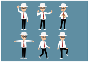 Gratis Cricket Umpire Character Vector