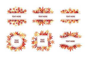 Japanese Maple Ornament Label Vector Designs