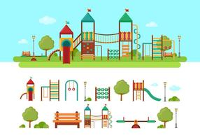 Jungle Gym Kids Playground vector