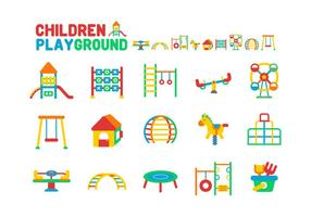 Kinder Spielplatz Icon Set