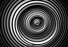 Vector Black And White Vertigo Background