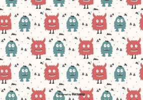 Cartoon Monsters Vector Pattern