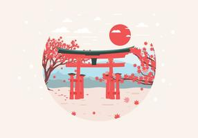 Japanese Maple Garden Vector