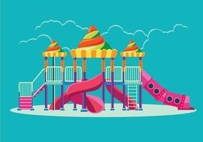 Outdoor Playground Equipment for Children vector