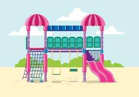 Barn Jungle Gym Illustration