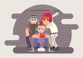 Illustration Batter Baseball
