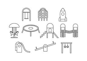 Gratis Playground Line Icon Vector