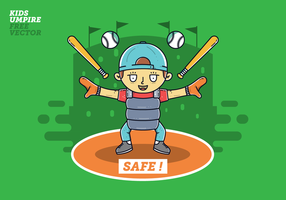 Free Umpire Kids Vector