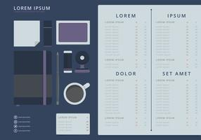 Bookkeeping Ledger Template Vector