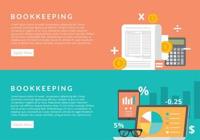 Bookkeeping Banner Free Vector