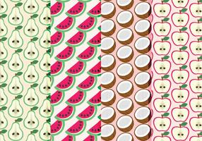 Vector Hand Drawn Fruit Patterns Collection