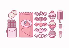 Colección de dulces vectoriales