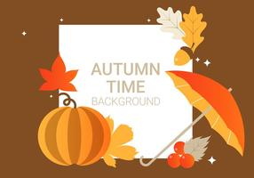 Free Autumn Elements Vector Background