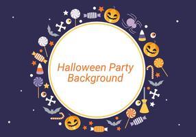 Free Flat Design Vektor Halloween Hintergrund