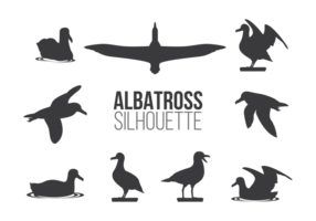 Albatros sillhaouttes vektor