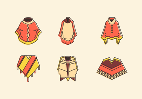 Poncho Gratis Vector Pack
