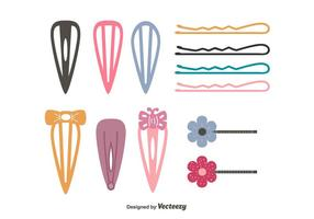 Hair Clips Vector